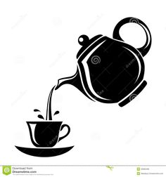 Illustration about Black silhouette of porcelain teapot pouring tea in the cup. Tea Puns, Stylo 3d, Stencils, Coffee Cup Art, Wall Painting Decor, Black Silhouette, Dance Silhouette, Free To Use Images, Teapots And Cups