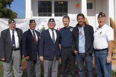 Ty Pennington with American veterans at the House United project. Rebuilding Together joined Pennington, Craftsman, Sears Heroes at Home,  NextGen Home built by Champion Home Builders, and Bank of America to give a veteran a new home.