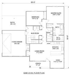 Farmhouse Style House Plan - 2 Beds 2 Baths 1460 Sq/Ft Plan #116-278 - Houseplans.com