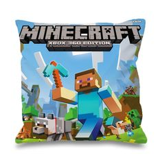 """Minecraft Herobrina Running Pillowcases Pillow Cases This pillow cover made from high quality drapery weight 50% cotton fabric and 50% Polyester with hidden zipper closure. All seams are surged to prevent fraying for long time of wear.This cover is made about 1"""" smaller in all dimensions to provide a full and luxurious feel for the pillow. Also i have 3 variant size.Available only Two side print, it is mean the booths side will have patternThe pillow inside is """"NOT"""" included in this…"""
