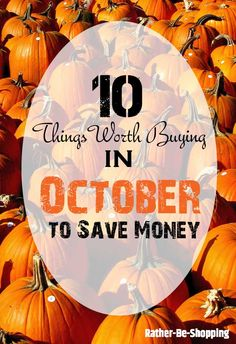 October Buying Guide - 10 Smart Buys