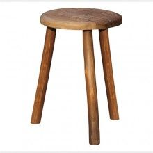 Rustic wooden stool $89