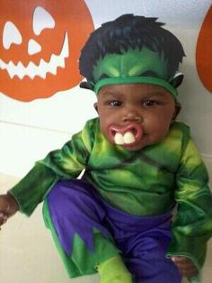 The cutest Hulk with a buck teeth pacifier