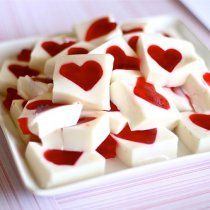 Receta de Gelatina Mosaico de Corazón