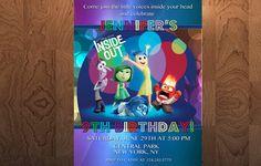 Inside Out Birthday Invitation  Printable by sleepyangeldesigns