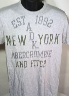 Abercrombie and Fitch Mens Size Large Muscle Fit T Shirt #AbercrombieFitch #GraphicTee