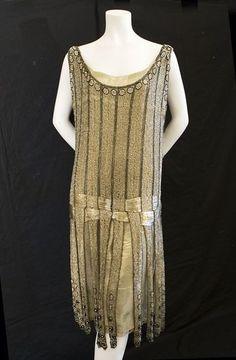 """Vestido de noche estilo """"Flapper"""" años 20.:"""