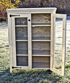 ana white This DIY Jelly Cupboard Plan features a shelves behind doors and primitive styling. Free simple step by step plans to build your own. Diy Furniture Plans Wood Projects, Building Furniture, Furniture Makeover, Wood Furniture, Country Furniture, Furniture Design, Ana White Furniture, Garden Furniture, Simple Furniture