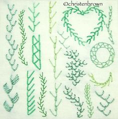 Картинки по запросу feather stitch hand embroidery