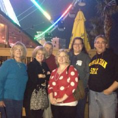 Land shark Bar and Grill in Mrytle Beach with conference team.