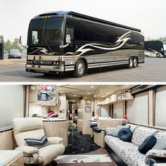A Prevost Bus conversion is the ultimate luxury motorhome. Marathon is the leader in luxury bus conversions, service and technology. Luxury Rv Living, Marathon Coach, Prevost Bus, Cool Rvs, Motorhome Living, Luxury Motorhomes, Bus Interior, Luxury Bus, Class A Motorhomes