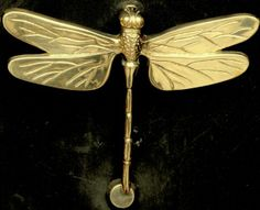Dragonfly Brass Door Knocker