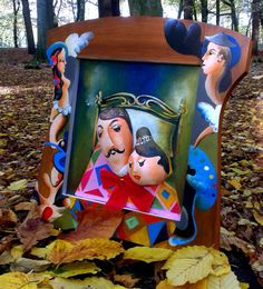 hand painted wooden frame with gourd elements by atelierKID