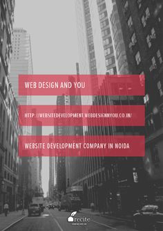 Website Development Company in Noida by Web Design and You. We provide Static Website - Cost: 2500 with Logo Design, Website Development 5 pages, 2 E-mail IDs, Domain + Hosting for 1 year, Duration: 7 working after PSD approval, Additional page development cost is Rs. 300 per page, Additional Rs. 200 per email for 10mb space. 24*7 Call us 92 8991 8991