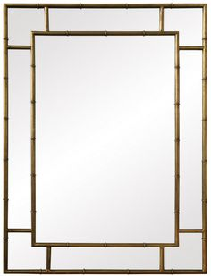Good size (approx 2.5 x 3.5 feet) but expensive (approx. $750)!  faux bambou gold mirror