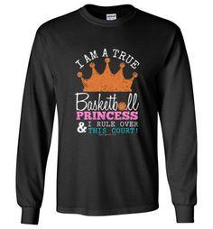 Golly Girls: Basketball Princess Gildan Long Sleeve T-Shirt only at gollygirls.com