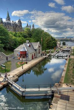 The Rideau Canal, also known as the Rideau Waterway, connects the city of Ottawa on the Ottawa River to the city of Kingston, on Lake Ontario