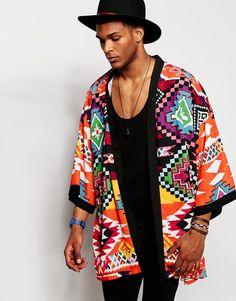 Jaded London Aztec Kimono