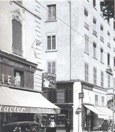 """C'est au glacier """"Le café neuf"""" qu'eurent lieu en aout 1950 les réunions qui décidèrent de la création de l'Olympique Lyonnais."""