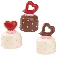 Make-ahead candy picks can add an exciting new dimension to your holiday treats! Here we?ve used them to add the finishing touch to  candy-coated mini cakes