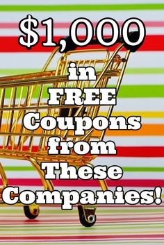 You can save lots of money with coupons. These companies will give you $1000 in FREE coupons! Take advantage of every opportunity to save money and make money! Get your coupons today and start saving money! This article contains affiliate links. #extracash #money