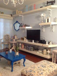 Ateliando - Customização de móveis antigos  Sala todinha garimpada e customizada pelo atelier Ateliando no Tempo!