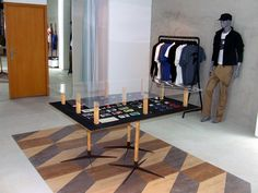 25thPROJECT store, Guimarães   Portugal I'd love to recreate this with laminate flooring sheets...