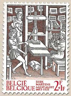 belgian stamps History  Bookprinting 1473