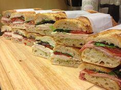 Pressed Picnic Sandwiches- Prosciutto, Turkey & Salami