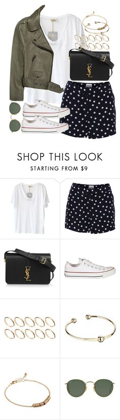 """""""Sin título #3800"""" by hellomissapple ❤ liked on Polyvore featuring American Vintage, American Retro, Acne Studios, Yves Saint Laurent, Converse, ASOS and Ray-Ban"""