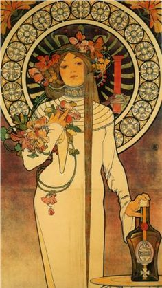 By Alphonse Mucha, 1 8 9 7, The Trappistine.