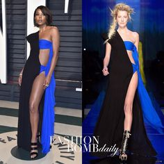 """5,044 Likes, 306 Comments - Fashion Bomb Daily (@fashionbombdaily) on Instagram: """"#GabrielleUnion wore a black and blue #JeanPaulGaultier SS17 Couture gown to the #VanityFair's…"""""""