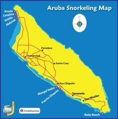 Find all the Aruba snorkeling spots, with detailed descriptions, pictures, a map, what to expect and important safety and travel tips. Caribbean Vacations, Caribbean Cruise, Aruba Cruise, Tropical Vacations, Vacation Trips, Vacation Spots, Vacation Ideas, Aruba Honeymoon, Aruba Island