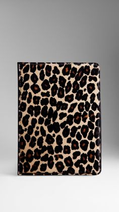 Spotted Animal Print iPad Mini Case | Burberry $675.00 Item 38957411 Colour: PALE CAMEL         A book-style leather iPad Mini case with spotted animal print calfskin cover.         The case features an invisible magnetic closure and accessible camera, audio and charging points.         15.6 x 21.3cm         6.1 x 8.4in         100% calfskin with leather trim         Made in Italy