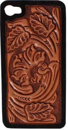Floral Tooled Hard Phone Case - HPC30