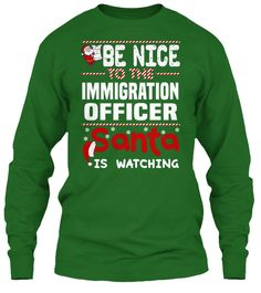 Be Nice To The Immigration Officer Santa Is Watching.   Ugly Sweater  Immigration Officer Xmas T-Shirts. If You Proud Your Job, This Shirt Makes A Great Gift For You And Your Family On Christmas.  Ugly Sweater  Immigration Officer, Xmas  Immigration Officer Shirts,  Immigration Officer Xmas T Shirts,  Immigration Officer Job Shirts,  Immigration Officer Tees,  Immigration Officer Hoodies,  Immigration Officer Ugly Sweaters,  Immigration Officer Long Sleeve,  Immigration Officer Funny Shirts…