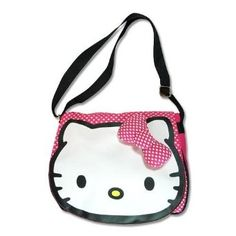 $29.95 Amazon.com: Sanrio Hello Kitty Pink w/Hearts and 3D bow Handbag by Jersey Bling: Clothing