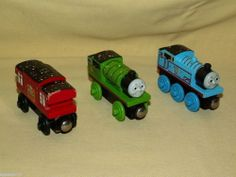 THOMAS  TANK TRAIN CELEBRATION 3 PC SET MAGNETIC PERCY CABOOSE 65TH WOODEN WOOD #LearningCurve