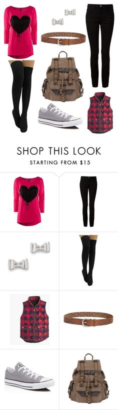 """""""just a dark bleeding heart"""" by shadowandfourswordsgirl ❤ liked on Polyvore featuring Alexander Wang, Marc by Marc Jacobs, J.Crew, Lucky Brand, Converse, Wilsons Leather, women's clothing, women, female and woman"""