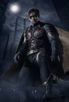 Brenton Thwaites is playing Dick Grayson a. Robin in DC's live-action Titans TV series and he looks incredible in these first FULL look images. Marvel Dc Comics, Dc Comics Art, Robin Comics, Dc Universe, Batman Universe, Teen Titans, Live Action, Titans Tv Series, Brenton Thwaites