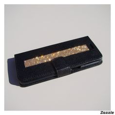 Personalized Leather Wallet, Black Wallet, Big Fashion, Samsung Galaxy S6, Leather Fashion, Diamond Shapes, Crystal Rhinestone, Crystals, Crystal