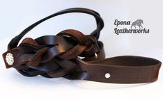 Sparkle with our blinged out Epona Dog Leash. Featuring our Epona Blossom charm and a rhinestone at the leash loop. $80.00 Dog Leash, Sparkle, Bling, Trending Outfits, Unique Jewelry, Handmade Gifts, Brown, Dogs, Leather