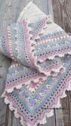 Crochet Baby Blanket Free Pattern, Baby Afghan Crochet, Manta Crochet, Afghan Crochet Patterns, Crochet Shawl, Knit Crochet, Cotton Crochet, Love Crochet, Knitting Yarn