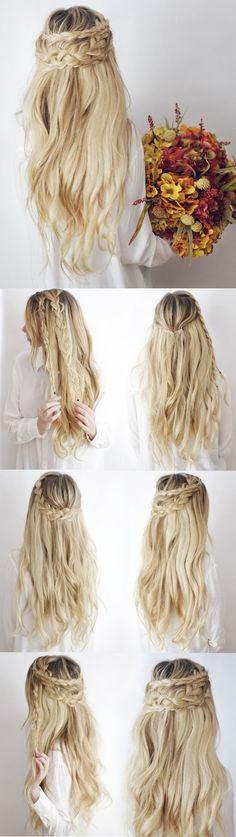 Hair Tutorial with Luxy Hair on Kassinka Haar Tutorial mit Luxy Hair auf Kassinka Diy Hairstyles, Pretty Hairstyles, Hairstyle Tutorials, Easy Hairstyle, Hairstyle Ideas, Holiday Hairstyles, Latest Hairstyles, Festival Hairstyles, Perfect Hairstyle
