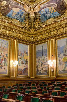 La salle d'assemblée générale , Le Palais Royal.Paris 1er