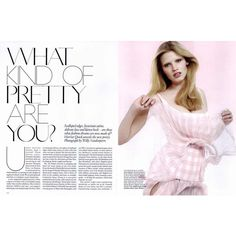 Vogue British Editorial What Kind of Pretty Are You?, February 2010... ❤ liked on Polyvore
