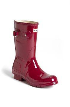 Hunter 'Original Short' Gloss Rain Boot (Women) available at #Nordstrom
