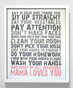 Take a look at this Pink 'Mama Loves You' Print by Gus & Lula on #zulily today!