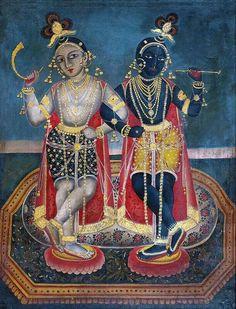 .Krishna & Balarama Bengal 1880s.