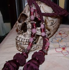 Handfasting Cord - not so keen on the skull but the beadwork makes a difference